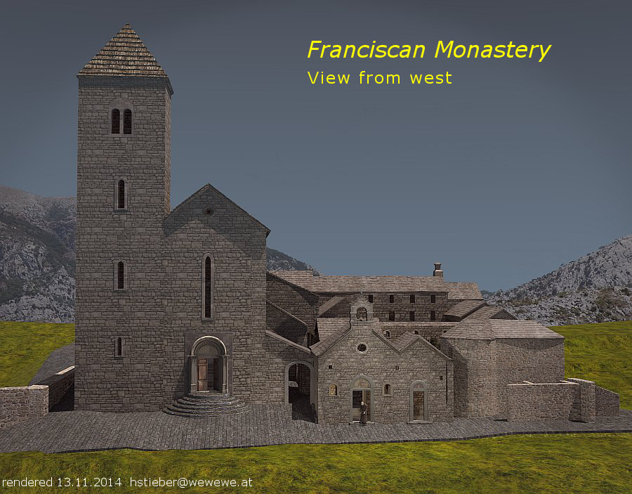 franciscan monastery from west